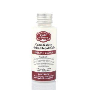 Crème de savon pour le visage - Ambre & bois de cèdre