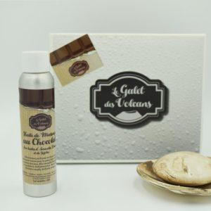 Coffret – Galet et huile de massage chocolat