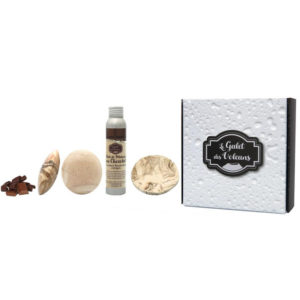 Coffret - Galet et huile de massage chocolat