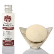 Galet à savon pour le visage, coupelle et crème de savon